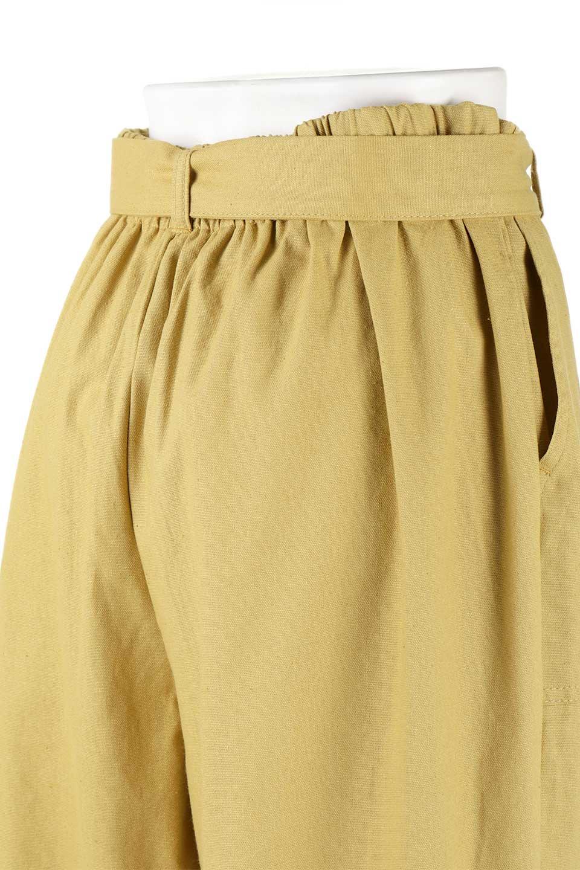 CroppedWidePantsベルト付き・クロップドワイドパンツ大人カジュアルに最適な海外ファッションのothers(その他インポートアイテム)のボトムやパンツ。コットンのざっくり生地のワイドパンツ。太めで短め。/main-18