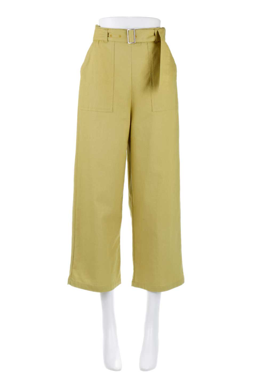 CroppedWidePantsベルト付き・クロップドワイドパンツ大人カジュアルに最適な海外ファッションのothers(その他インポートアイテム)のボトムやパンツ。コットンのざっくり生地のワイドパンツ。太めで短め。/main-5