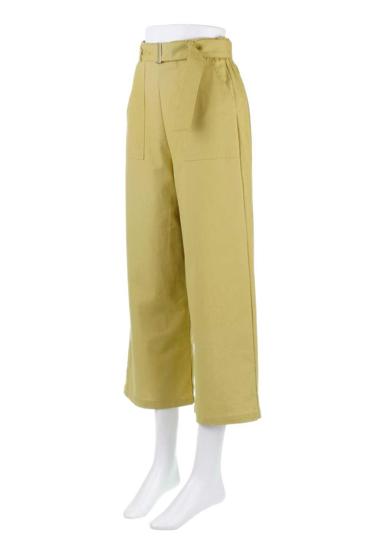 CroppedWidePantsベルト付き・クロップドワイドパンツ大人カジュアルに最適な海外ファッションのothers(その他インポートアイテム)のボトムやパンツ。コットンのざっくり生地のワイドパンツ。太めで短め。/main-6