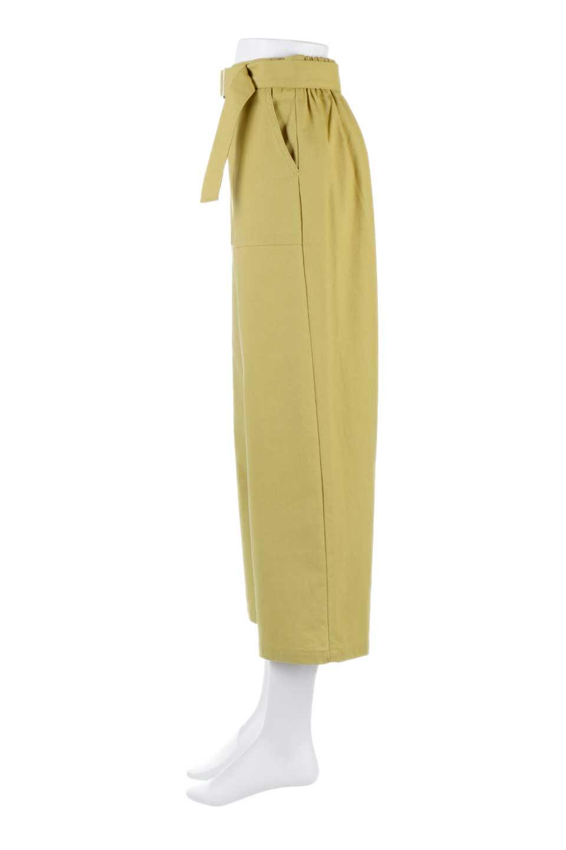 CroppedWidePantsベルト付き・クロップドワイドパンツ大人カジュアルに最適な海外ファッションのothers(その他インポートアイテム)のボトムやパンツ。コットンのざっくり生地のワイドパンツ。太めで短め。/main-7
