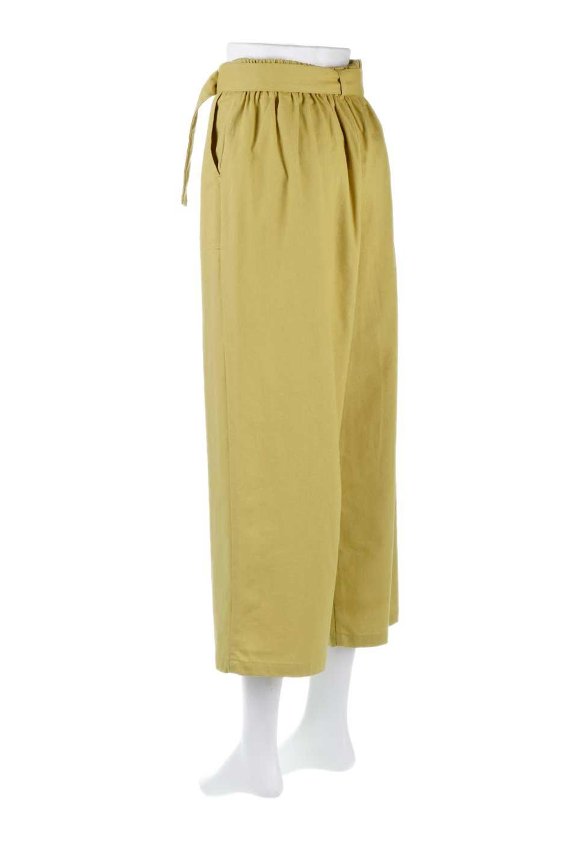 CroppedWidePantsベルト付き・クロップドワイドパンツ大人カジュアルに最適な海外ファッションのothers(その他インポートアイテム)のボトムやパンツ。コットンのざっくり生地のワイドパンツ。太めで短め。/main-8