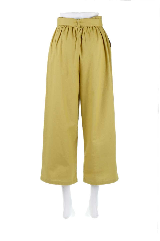 CroppedWidePantsベルト付き・クロップドワイドパンツ大人カジュアルに最適な海外ファッションのothers(その他インポートアイテム)のボトムやパンツ。コットンのざっくり生地のワイドパンツ。太めで短め。/main-9