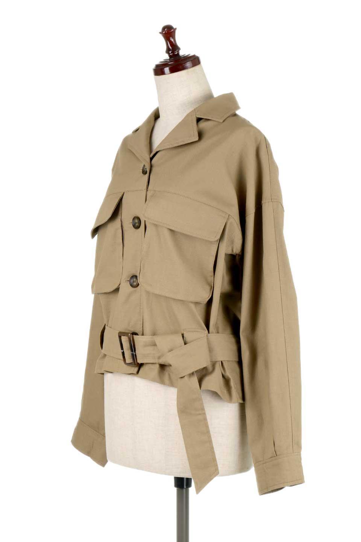 OversizedSafariJacketオーバーサイズ・サファリジャケット大人カジュアルに最適な海外ファッションのothers(その他インポートアイテム)のアウターやジャケット。ショート&オーバーサイズなコットン・サファリジャケット。しっかりしたシャツジャケットのような着心地でこの時期に最適な1枚です。/main-11