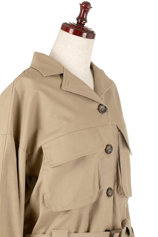 OversizedSafariJacketオーバーサイズ・サファリジャケット大人カジュアルに最適な海外ファッションのothers(その他インポートアイテム)のアウターやジャケット。ショート&オーバーサイズなコットン・サファリジャケット。しっかりしたシャツジャケットのような着心地でこの時期に最適な1枚です。/main-15