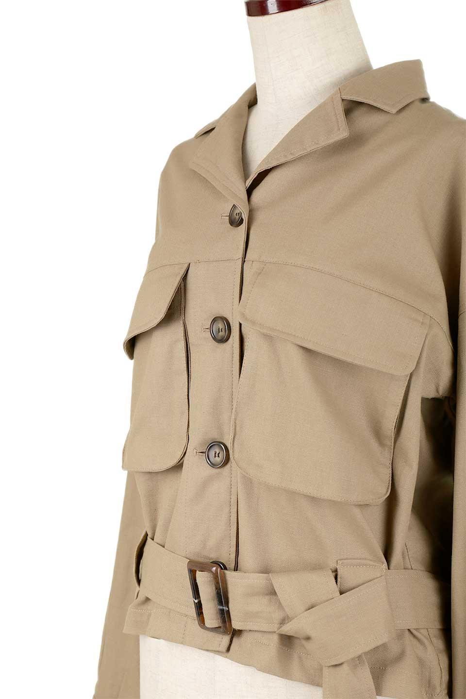 OversizedSafariJacketオーバーサイズ・サファリジャケット大人カジュアルに最適な海外ファッションのothers(その他インポートアイテム)のアウターやジャケット。ショート&オーバーサイズなコットン・サファリジャケット。しっかりしたシャツジャケットのような着心地でこの時期に最適な1枚です。/main-16