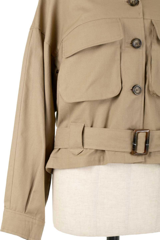 OversizedSafariJacketオーバーサイズ・サファリジャケット大人カジュアルに最適な海外ファッションのothers(その他インポートアイテム)のアウターやジャケット。ショート&オーバーサイズなコットン・サファリジャケット。しっかりしたシャツジャケットのような着心地でこの時期に最適な1枚です。/main-19