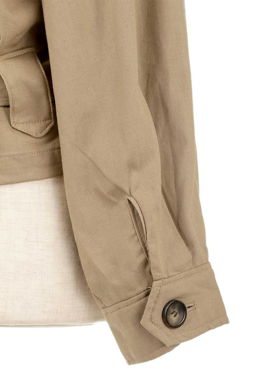 OversizedSafariJacketオーバーサイズ・サファリジャケット大人カジュアルに最適な海外ファッションのothers(その他インポートアイテム)のアウターやジャケット。ショート&オーバーサイズなコットン・サファリジャケット。しっかりしたシャツジャケットのような着心地でこの時期に最適な1枚です。/main-22