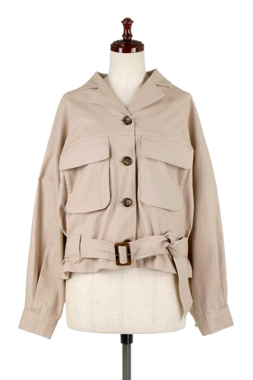 OversizedSafariJacketオーバーサイズ・サファリジャケット大人カジュアルに最適な海外ファッションのothers(その他インポートアイテム)のアウターやジャケット。ショート&オーバーサイズなコットン・サファリジャケット。しっかりしたシャツジャケットのような着心地でこの時期に最適な1枚です。/main-5