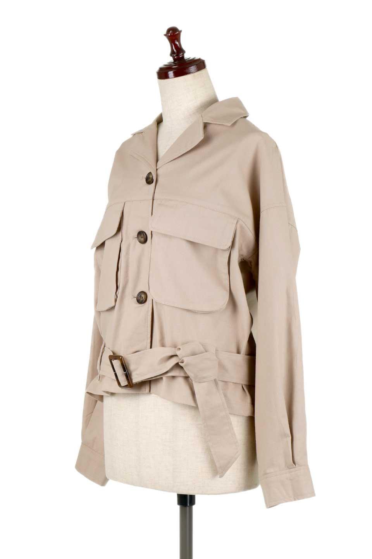 OversizedSafariJacketオーバーサイズ・サファリジャケット大人カジュアルに最適な海外ファッションのothers(その他インポートアイテム)のアウターやジャケット。ショート&オーバーサイズなコットン・サファリジャケット。しっかりしたシャツジャケットのような着心地でこの時期に最適な1枚です。/main-6
