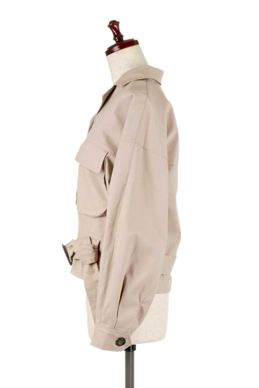 OversizedSafariJacketオーバーサイズ・サファリジャケット大人カジュアルに最適な海外ファッションのothers(その他インポートアイテム)のアウターやジャケット。ショート&オーバーサイズなコットン・サファリジャケット。しっかりしたシャツジャケットのような着心地でこの時期に最適な1枚です。/main-7