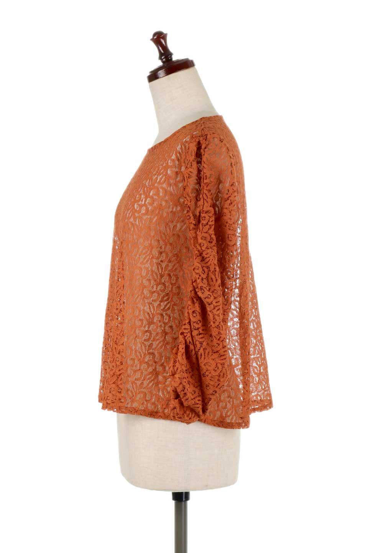 GatherSleeveLaceBlouseオーバーサイズ・サファリジャケット大人カジュアルに最適な海外ファッションのothers(その他インポートアイテム)のトップスやシャツ・ブラウス。春の重ね着にピッタリの総レースブラウス。ゆったり目のシルエットとギャザーをあしらった袖がとてもかわいいブラウスです。/main-12