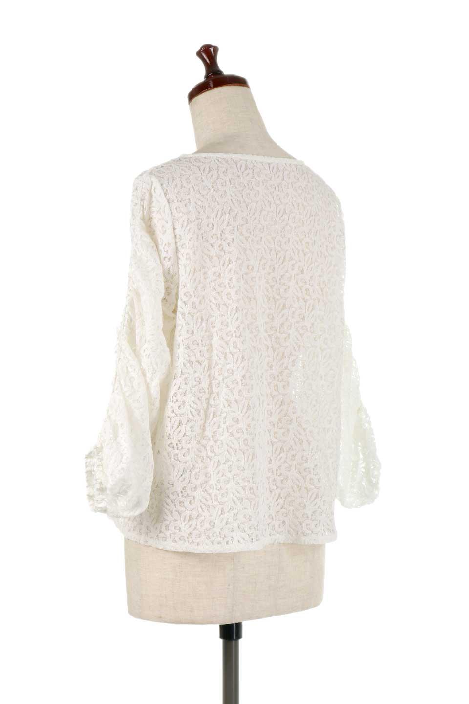 GatherSleeveLaceBlouseオーバーサイズ・サファリジャケット大人カジュアルに最適な海外ファッションのothers(その他インポートアイテム)のトップスやシャツ・ブラウス。春の重ね着にピッタリの総レースブラウス。ゆったり目のシルエットとギャザーをあしらった袖がとてもかわいいブラウスです。/main-8