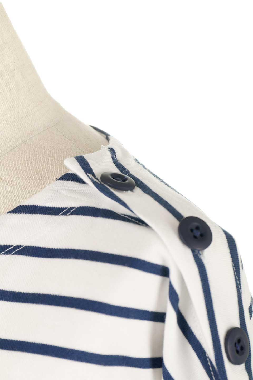 ButtonShoulderStripedTee肩ボタン・ボーダーロンT大人カジュアルに最適な海外ファッションのothers(その他インポートアイテム)のトップスやカットソー。マリンテイストのボーダーロンT。人気の大きめデザインで合わせやすいアイテムです。/main-24