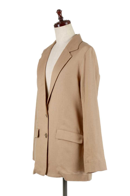 2ButtonTailoredJacket麻混2ボタン・テイラードジャケット大人カジュアルに最適な海外ファッションのothers(その他インポートアイテム)のアウターやジャケット。春夏に活躍しそうな1枚仕立てのテーラードジャケット。ややゆったりシルエットで幅広い着こなしが楽しめるジャケットです。/main-6