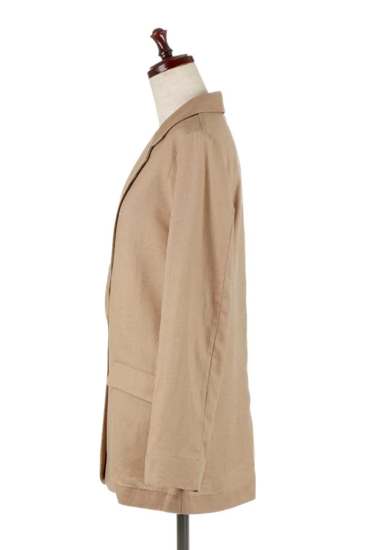 2ButtonTailoredJacket麻混2ボタン・テイラードジャケット大人カジュアルに最適な海外ファッションのothers(その他インポートアイテム)のアウターやジャケット。春夏に活躍しそうな1枚仕立てのテーラードジャケット。ややゆったりシルエットで幅広い着こなしが楽しめるジャケットです。/main-7