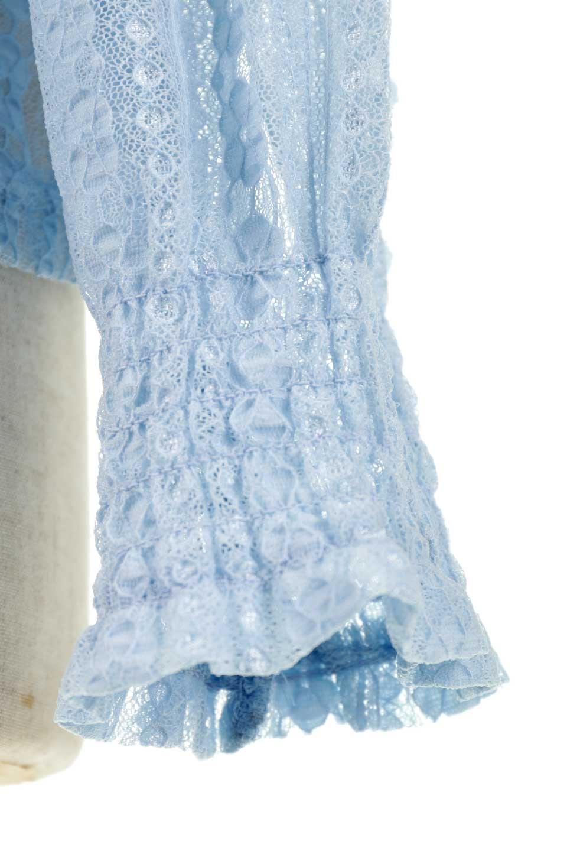 StripedLaceHiNeckBlouseストライプレース・シャーリングブラウス大人カジュアルに最適な海外ファッションのothers(その他インポートアイテム)のトップスやシャツ・ブラウス。縦ストライプのレースが可愛いハイネックブラウス。入荷後すぐに完売した大人気商品。/main-14