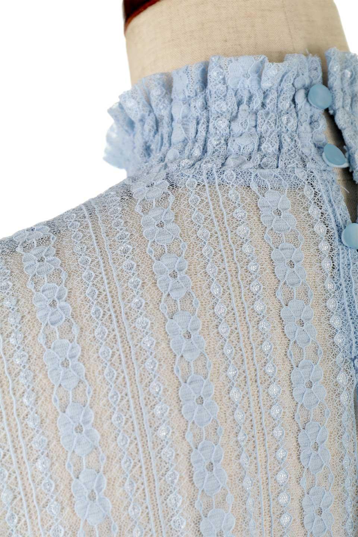 StripedLaceHiNeckBlouseストライプレース・シャーリングブラウス大人カジュアルに最適な海外ファッションのothers(その他インポートアイテム)のトップスやシャツ・ブラウス。縦ストライプのレースが可愛いハイネックブラウス。入荷後すぐに完売した大人気商品。/main-15