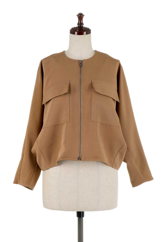 OversizedShortJacketオーバーサイズ・ショートジャケット大人カジュアルに最適な海外ファッションのothers(その他インポートアイテム)のアウターやジャケット。大きめでショート丈の人気シルエットのジャケット。ドルマンスリーブとストレッチ素材で動き安さも抜群。/main-10
