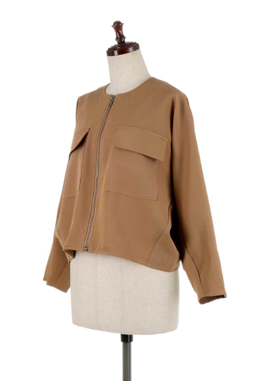 OversizedShortJacketオーバーサイズ・ショートジャケット大人カジュアルに最適な海外ファッションのothers(その他インポートアイテム)のアウターやジャケット。大きめでショート丈の人気シルエットのジャケット。ドルマンスリーブとストレッチ素材で動き安さも抜群。/main-11