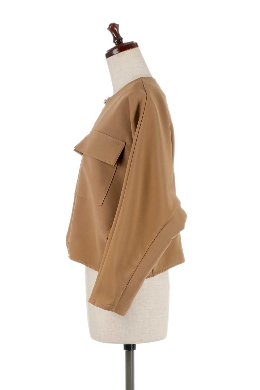 OversizedShortJacketオーバーサイズ・ショートジャケット大人カジュアルに最適な海外ファッションのothers(その他インポートアイテム)のアウターやジャケット。大きめでショート丈の人気シルエットのジャケット。ドルマンスリーブとストレッチ素材で動き安さも抜群。/main-12