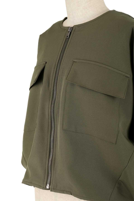 OversizedShortJacketオーバーサイズ・ショートジャケット大人カジュアルに最適な海外ファッションのothers(その他インポートアイテム)のアウターやジャケット。大きめでショート丈の人気シルエットのジャケット。ドルマンスリーブとストレッチ素材で動き安さも抜群。/main-16