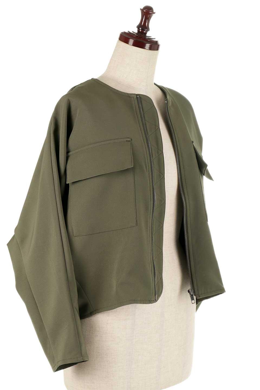 OversizedShortJacketオーバーサイズ・ショートジャケット大人カジュアルに最適な海外ファッションのothers(その他インポートアイテム)のアウターやジャケット。大きめでショート丈の人気シルエットのジャケット。ドルマンスリーブとストレッチ素材で動き安さも抜群。/main-17