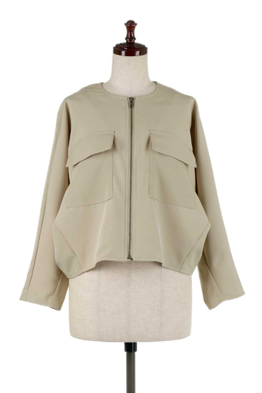 OversizedShortJacketオーバーサイズ・ショートジャケット大人カジュアルに最適な海外ファッションのothers(その他インポートアイテム)のアウターやジャケット。大きめでショート丈の人気シルエットのジャケット。ドルマンスリーブとストレッチ素材で動き安さも抜群。/main-5