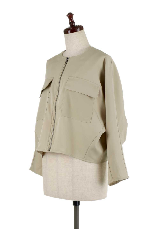 OversizedShortJacketオーバーサイズ・ショートジャケット大人カジュアルに最適な海外ファッションのothers(その他インポートアイテム)のアウターやジャケット。大きめでショート丈の人気シルエットのジャケット。ドルマンスリーブとストレッチ素材で動き安さも抜群。/main-6