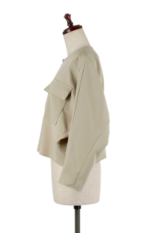 OversizedShortJacketオーバーサイズ・ショートジャケット大人カジュアルに最適な海外ファッションのothers(その他インポートアイテム)のアウターやジャケット。大きめでショート丈の人気シルエットのジャケット。ドルマンスリーブとストレッチ素材で動き安さも抜群。/main-7