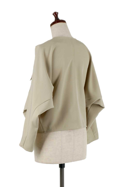 OversizedShortJacketオーバーサイズ・ショートジャケット大人カジュアルに最適な海外ファッションのothers(その他インポートアイテム)のアウターやジャケット。大きめでショート丈の人気シルエットのジャケット。ドルマンスリーブとストレッチ素材で動き安さも抜群。/main-8