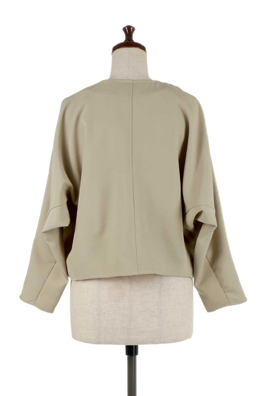 OversizedShortJacketオーバーサイズ・ショートジャケット大人カジュアルに最適な海外ファッションのothers(その他インポートアイテム)のアウターやジャケット。大きめでショート丈の人気シルエットのジャケット。ドルマンスリーブとストレッチ素材で動き安さも抜群。/main-9