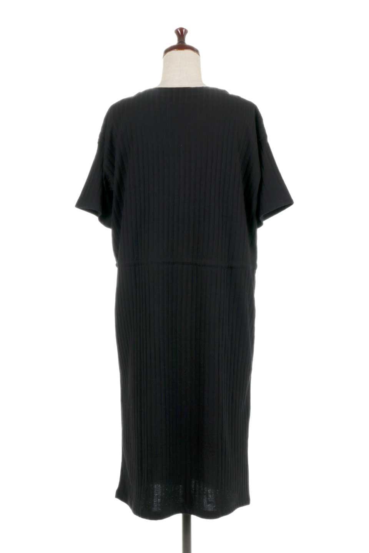 Waist-TiedRibKnitDressワイドリブ・半袖ニットワンピース大人カジュアルに最適な海外ファッションのothers(その他インポートアイテム)のワンピースやミディワンピース。やや薄手のワイドリブニットが爽やかなワンピース。ウエストのリボンの絞り具合で様々なコーデが楽しめます。/main-19