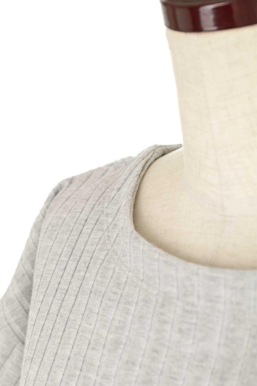 Waist-TiedRibKnitDressワイドリブ・半袖ニットワンピース大人カジュアルに最適な海外ファッションのothers(その他インポートアイテム)のワンピースやミディワンピース。やや薄手のワイドリブニットが爽やかなワンピース。ウエストのリボンの絞り具合で様々なコーデが楽しめます。/main-21