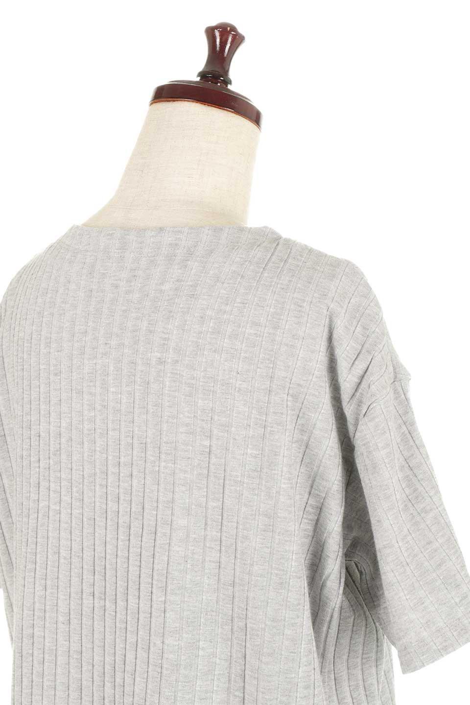 Waist-TiedRibKnitDressワイドリブ・半袖ニットワンピース大人カジュアルに最適な海外ファッションのothers(その他インポートアイテム)のワンピースやミディワンピース。やや薄手のワイドリブニットが爽やかなワンピース。ウエストのリボンの絞り具合で様々なコーデが楽しめます。/main-23