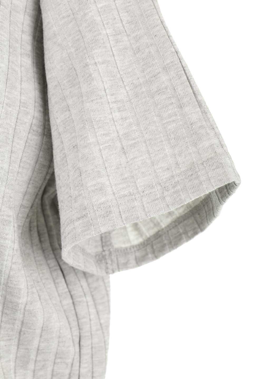 Waist-TiedRibKnitDressワイドリブ・半袖ニットワンピース大人カジュアルに最適な海外ファッションのothers(その他インポートアイテム)のワンピースやミディワンピース。やや薄手のワイドリブニットが爽やかなワンピース。ウエストのリボンの絞り具合で様々なコーデが楽しめます。/main-25