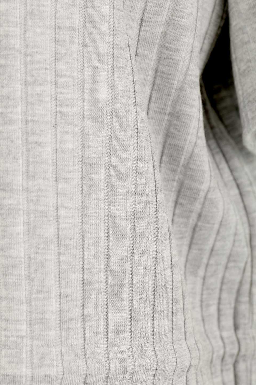 Waist-TiedRibKnitDressワイドリブ・半袖ニットワンピース大人カジュアルに最適な海外ファッションのothers(その他インポートアイテム)のワンピースやミディワンピース。やや薄手のワイドリブニットが爽やかなワンピース。ウエストのリボンの絞り具合で様々なコーデが楽しめます。/main-26
