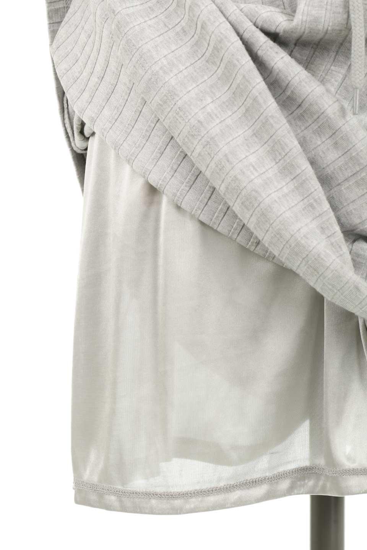 Waist-TiedRibKnitDressワイドリブ・半袖ニットワンピース大人カジュアルに最適な海外ファッションのothers(その他インポートアイテム)のワンピースやミディワンピース。やや薄手のワイドリブニットが爽やかなワンピース。ウエストのリボンの絞り具合で様々なコーデが楽しめます。/main-27