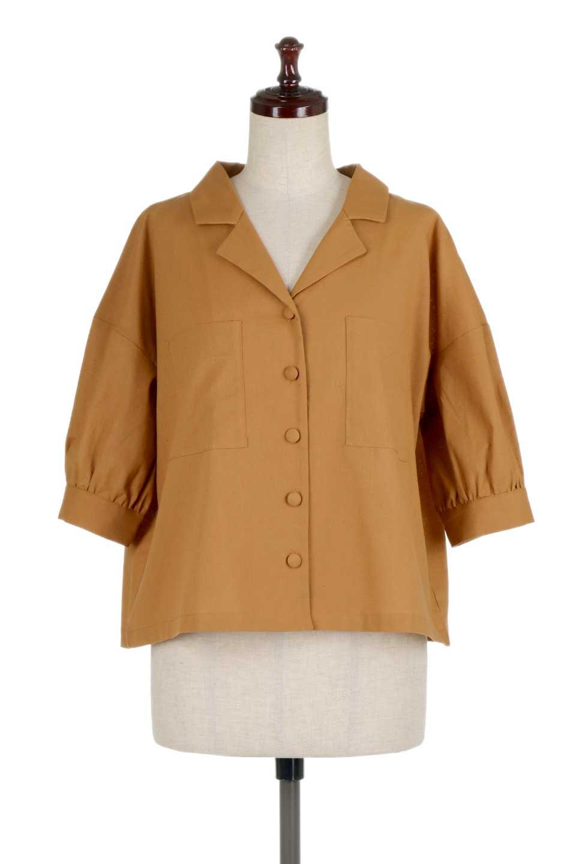 OpenCollarBigShirtsオープンカラー・ビッグシャツ大人カジュアルに最適な海外ファッションのothers(その他インポートアイテム)のトップスやシャツ・ブラウス。オーバーサイズのシルエットが可愛らしいシンプルな開襟シャツ。合わせやすいくすんだ色合いが春夏のコーデを楽しくします。/main-10