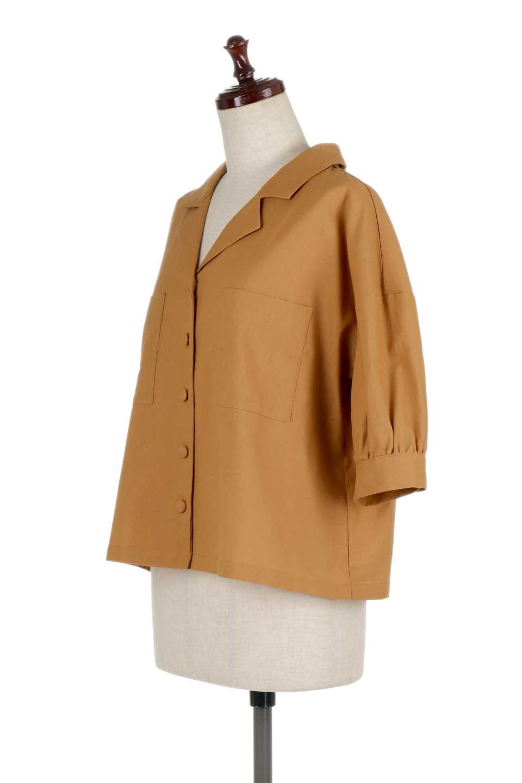 OpenCollarBigShirtsオープンカラー・ビッグシャツ大人カジュアルに最適な海外ファッションのothers(その他インポートアイテム)のトップスやシャツ・ブラウス。オーバーサイズのシルエットが可愛らしいシンプルな開襟シャツ。合わせやすいくすんだ色合いが春夏のコーデを楽しくします。/main-11