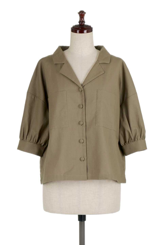 OpenCollarBigShirtsオープンカラー・ビッグシャツ大人カジュアルに最適な海外ファッションのothers(その他インポートアイテム)のトップスやシャツ・ブラウス。オーバーサイズのシルエットが可愛らしいシンプルな開襟シャツ。合わせやすいくすんだ色合いが春夏のコーデを楽しくします。/main-15