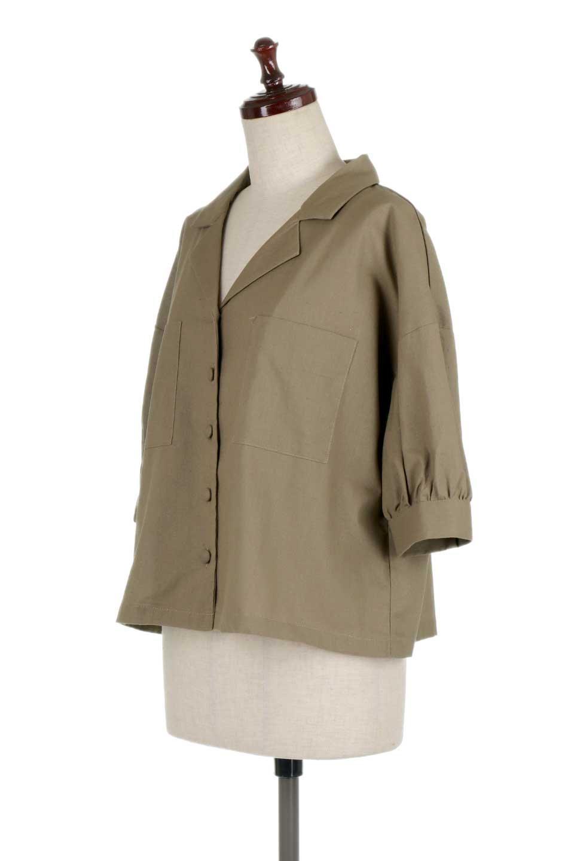 OpenCollarBigShirtsオープンカラー・ビッグシャツ大人カジュアルに最適な海外ファッションのothers(その他インポートアイテム)のトップスやシャツ・ブラウス。オーバーサイズのシルエットが可愛らしいシンプルな開襟シャツ。合わせやすいくすんだ色合いが春夏のコーデを楽しくします。/main-16