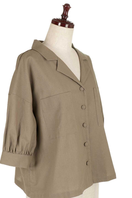 OpenCollarBigShirtsオープンカラー・ビッグシャツ大人カジュアルに最適な海外ファッションのothers(その他インポートアイテム)のトップスやシャツ・ブラウス。オーバーサイズのシルエットが可愛らしいシンプルな開襟シャツ。合わせやすいくすんだ色合いが春夏のコーデを楽しくします。/main-20