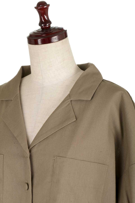 OpenCollarBigShirtsオープンカラー・ビッグシャツ大人カジュアルに最適な海外ファッションのothers(その他インポートアイテム)のトップスやシャツ・ブラウス。オーバーサイズのシルエットが可愛らしいシンプルな開襟シャツ。合わせやすいくすんだ色合いが春夏のコーデを楽しくします。/main-22