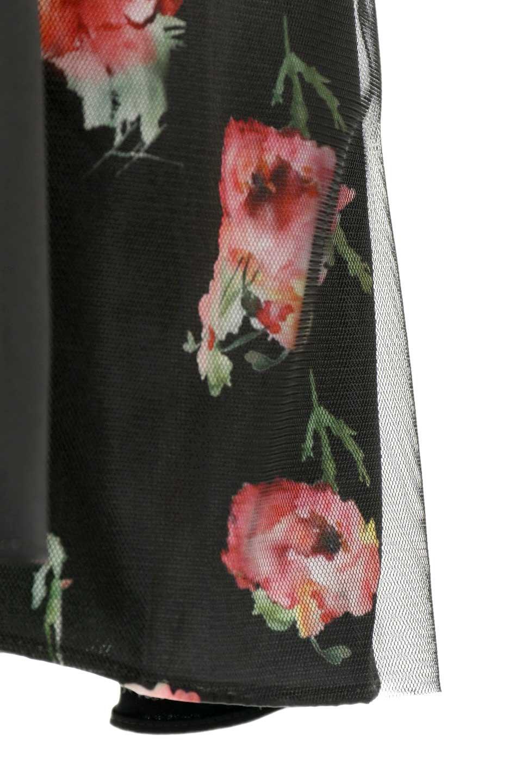 FloralSideLinedSleevelessDress花柄切り替え・Aラインドレス大人カジュアルに最適な海外ファッションのothers(その他インポートアイテム)のワンピースやミディワンピース。パーティーなどで活躍しそうな上品ワンピース。ドレープ感のある生地にサイドの花柄が映える華のあるドレスです。/main-14