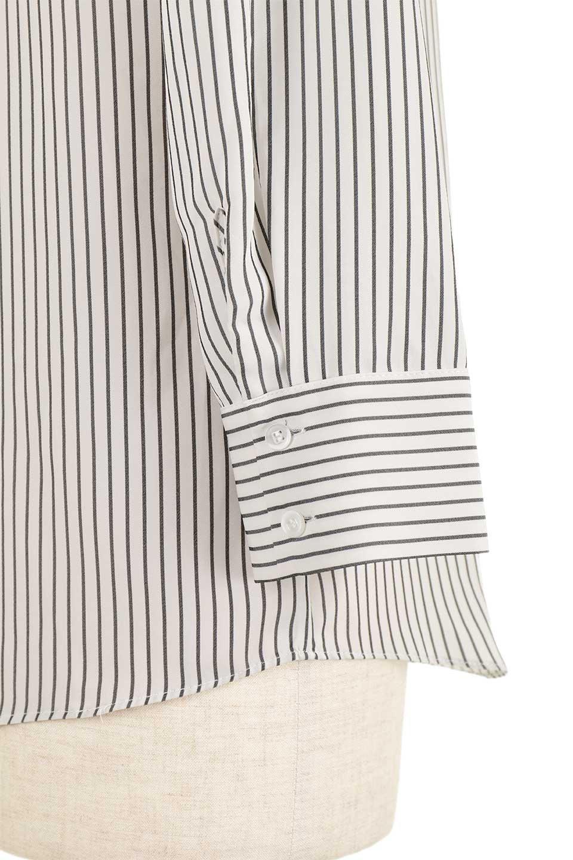 3/4SleeveStrippedShirts7分袖ストライプシャツfromDenmark大人カジュアルに最適な海外ファッションのothers(その他インポートアイテム)のトップスやシャツ・ブラウス。オフィスカジュアルでも活躍しそうなストライプシャツ。細めのストライプ柄で知的な雰囲気も感じるシャツ。/main-11