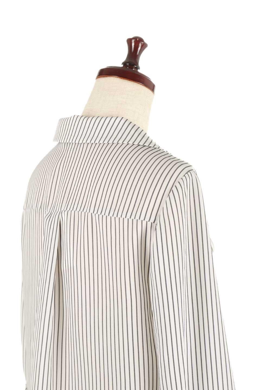 3/4SleeveStrippedShirts7分袖ストライプシャツfromDenmark大人カジュアルに最適な海外ファッションのothers(その他インポートアイテム)のトップスやシャツ・ブラウス。オフィスカジュアルでも活躍しそうなストライプシャツ。細めのストライプ柄で知的な雰囲気も感じるシャツ。/main-5