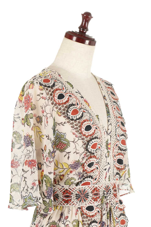 BohemianEmbroideredLongDressボヘミアン調刺繍入り・半袖ロングドレスfromDenmark大人カジュアルに最適な海外ファッションのothers(その他インポートアイテム)のワンピースやマキシワンピース。一目惚れのお客様多数のボヘミアン・ワンピース。全面のボタニカルプリントにエキゾチックな刺繍が目を引くワンピース。/main-5