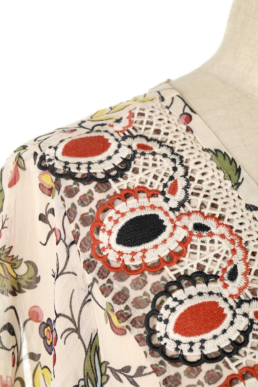 BohemianEmbroideredLongDressボヘミアン調刺繍入り・半袖ロングドレスfromDenmark大人カジュアルに最適な海外ファッションのothers(その他インポートアイテム)のワンピースやマキシワンピース。一目惚れのお客様多数のボヘミアン・ワンピース。全面のボタニカルプリントにエキゾチックな刺繍が目を引くワンピース。/main-9
