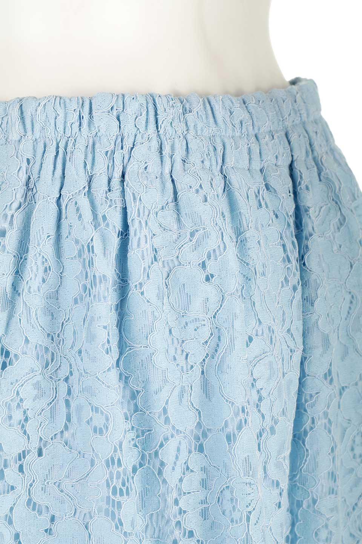 LayeredLaceMidiSkirt総レース・ミディスカート大人カジュアルに最適な海外ファッションのothers(その他インポートアイテム)のボトムやスカート。フェミニンな総レースが可愛いミディ丈スカート。レースの透け感と裏地のサテンの淡い光沢感の組み合わせが春らしいアイテムです。/main-10