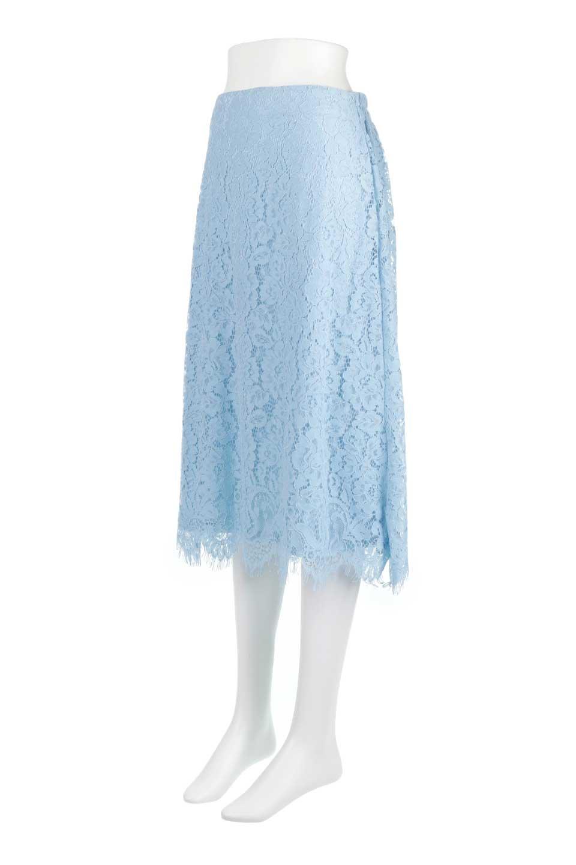 LayeredLaceMidiSkirt総レース・ミディスカート大人カジュアルに最適な海外ファッションのothers(その他インポートアイテム)のボトムやスカート。フェミニンな総レースが可愛いミディ丈スカート。レースの透け感と裏地のサテンの淡い光沢感の組み合わせが春らしいアイテムです。/main-6